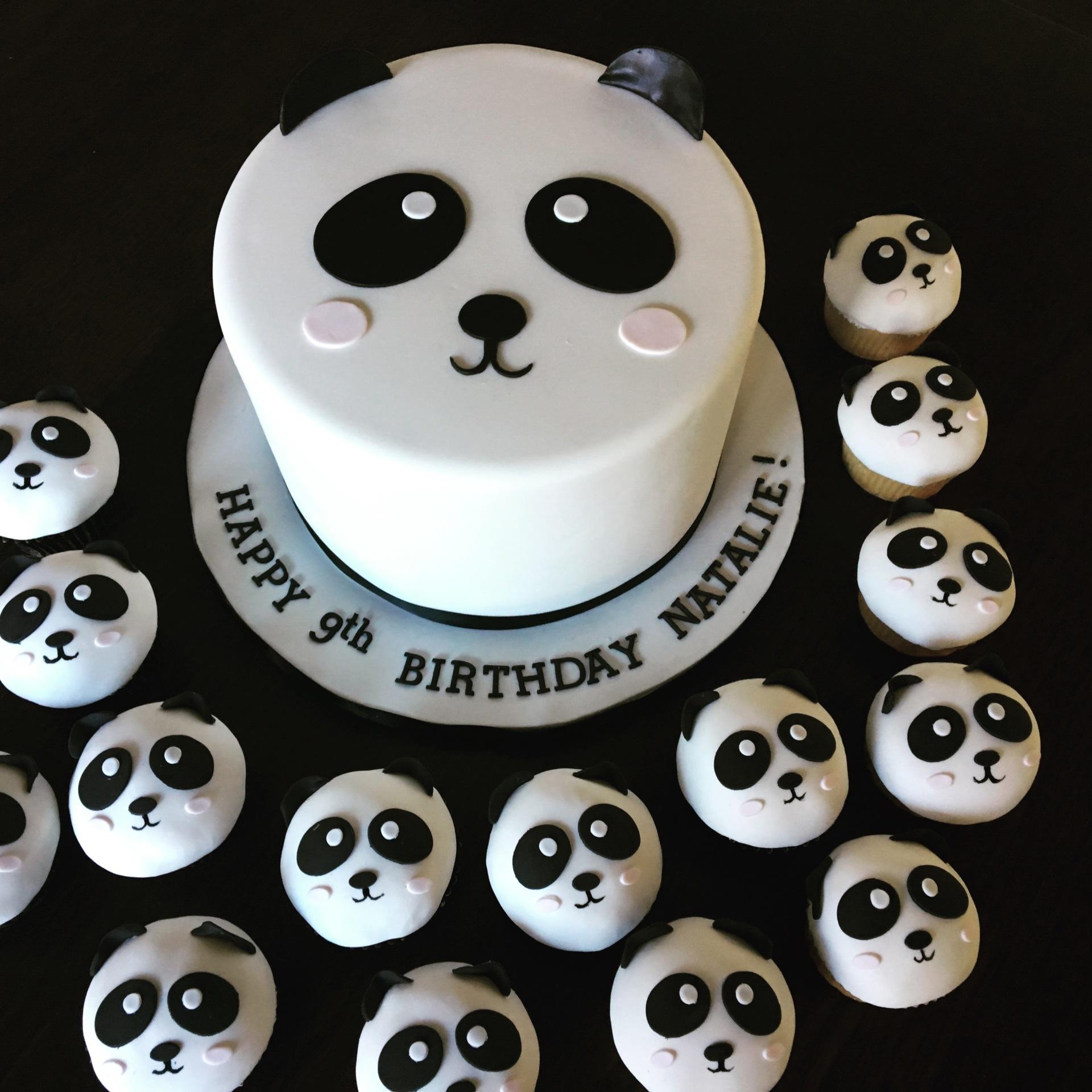 custom cakes nj panda cake