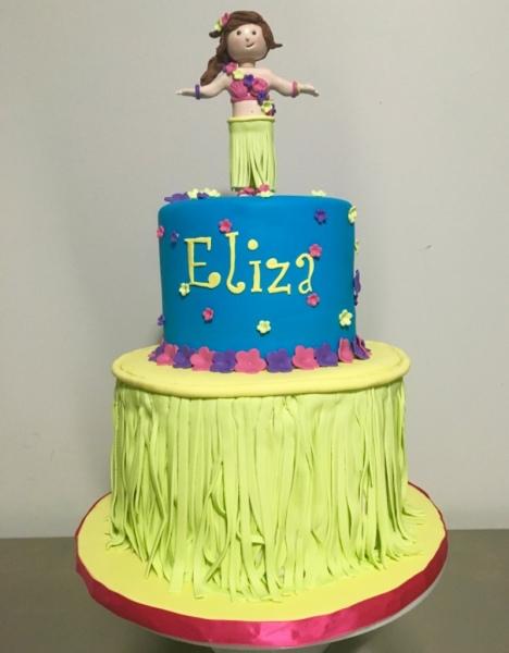 custom cakes nj hoola party cake hoola girl