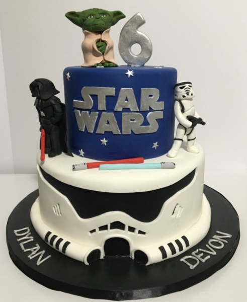 custom cake nj Storm Trooper Cake star wars cake yoda darth vader