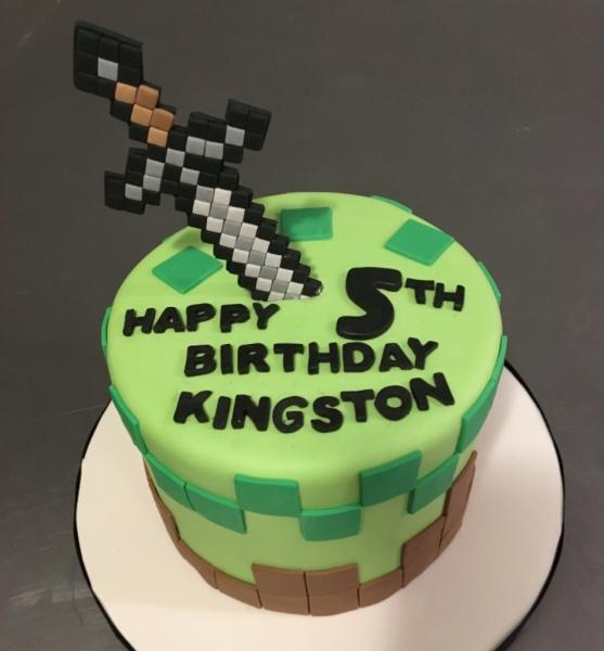 custom cake nj minecraft cake sword cake birthday cake