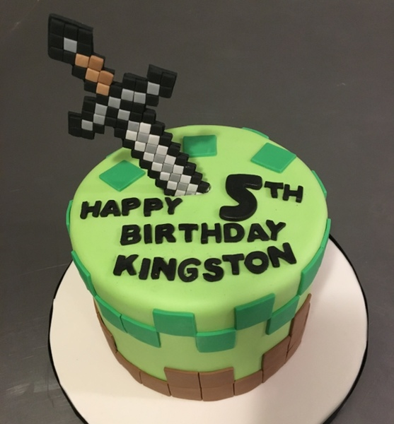 custom cake nj minecraft cake sword cake birthday cake