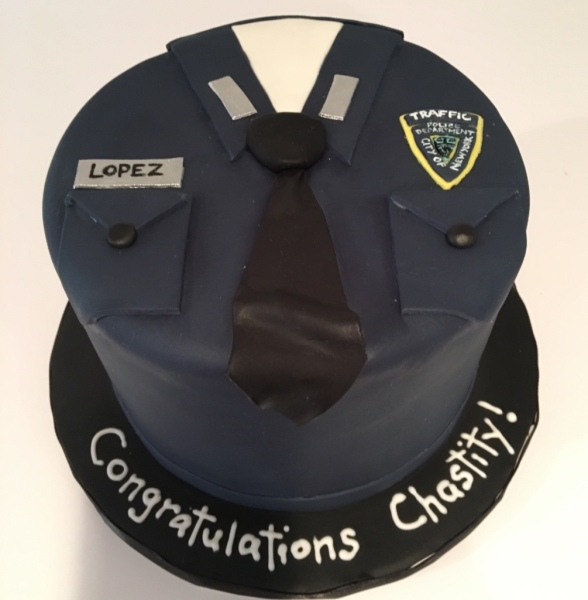 custom cakes nj police officer cake
