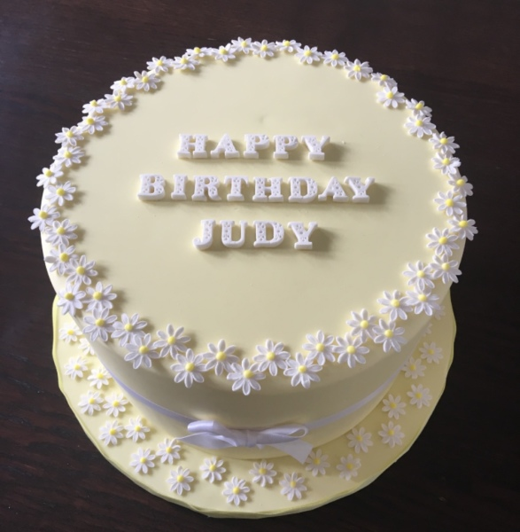 custom cakes nj yellow daisies cake