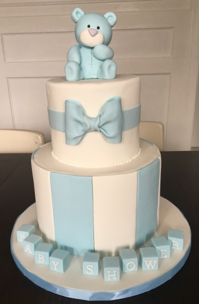 custom cakes nj baby boy blue baby shower cake
