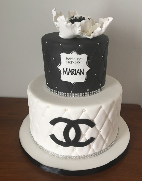 custom cakes nj chanel black and white cake
