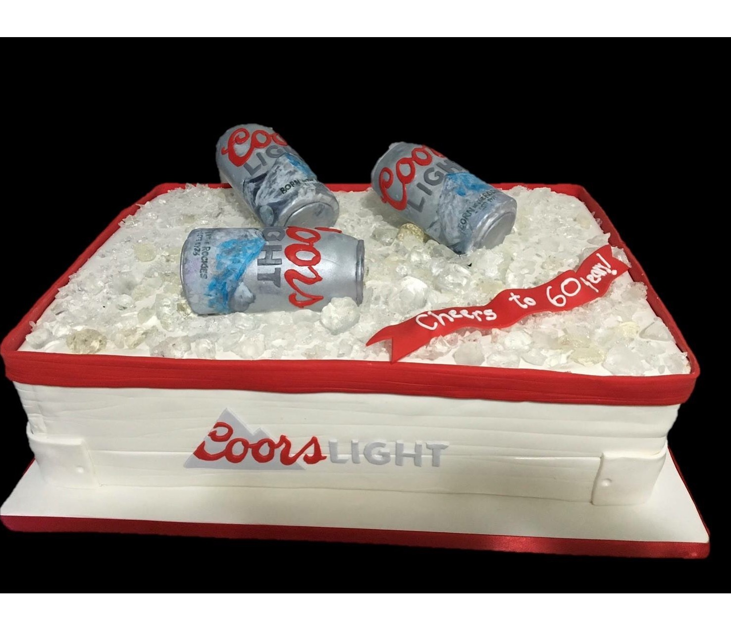 Custom Cakes NJ Coors Light Themed Retirement Cake