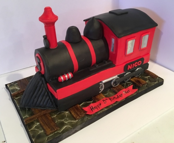 custom cakes nj steam train cake