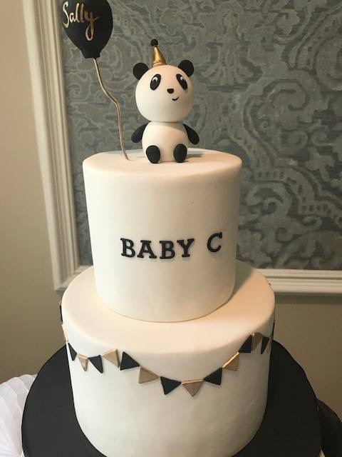 custom cakes nj panda baby shower cake