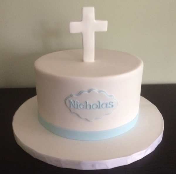 White Communion Cake