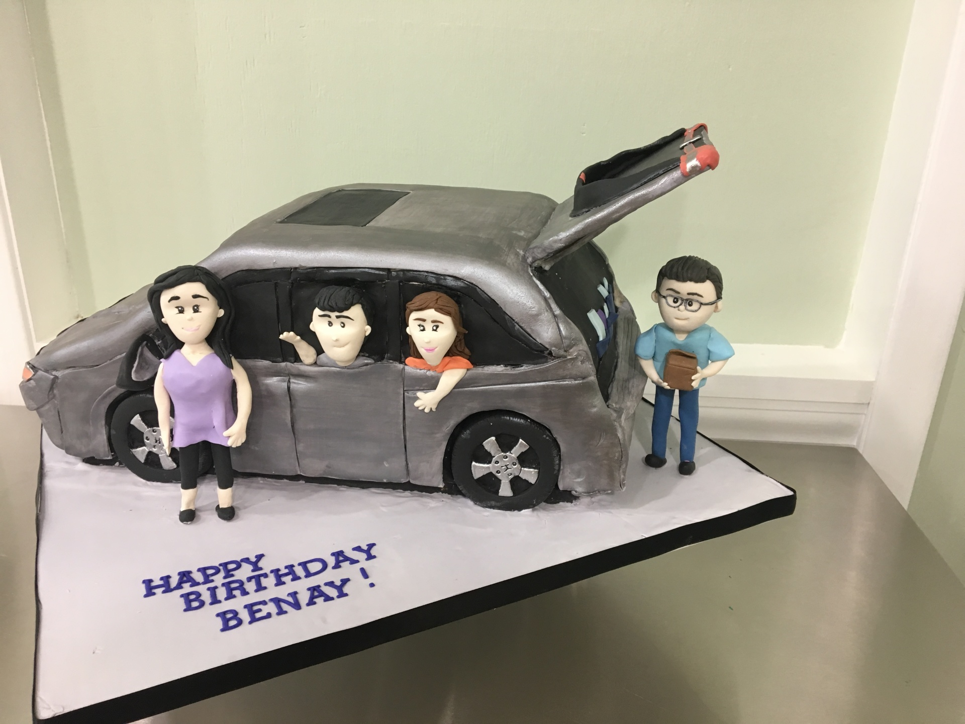 custom cakes nj mini van cake car figurines fondant