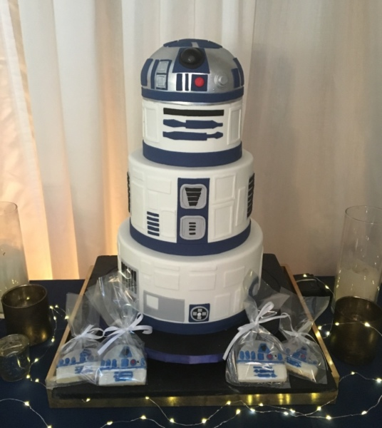 Star wars cake R2D2 cake baby shower cake nj