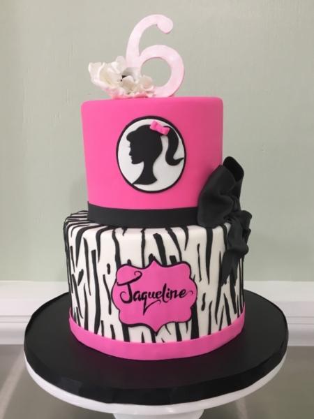 custom cakes nj barbie cake animal print zebra print cake girl