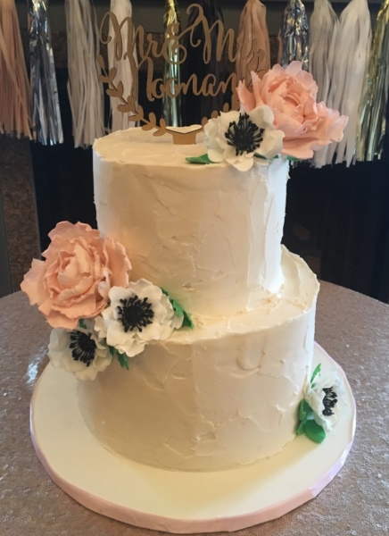 custom cakes nj buttercream bridal shower cake
