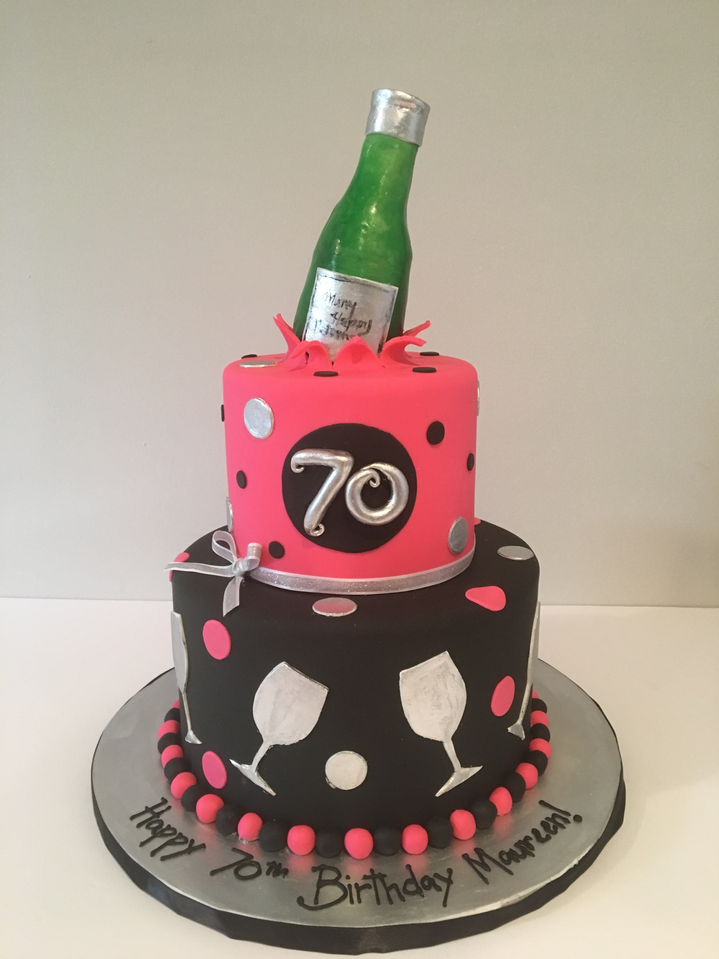custom cakes nj wine themed cake 70