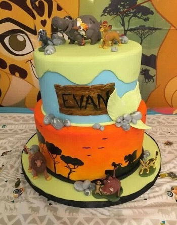 Lion Guard birthday cake boy custom cakes NJ