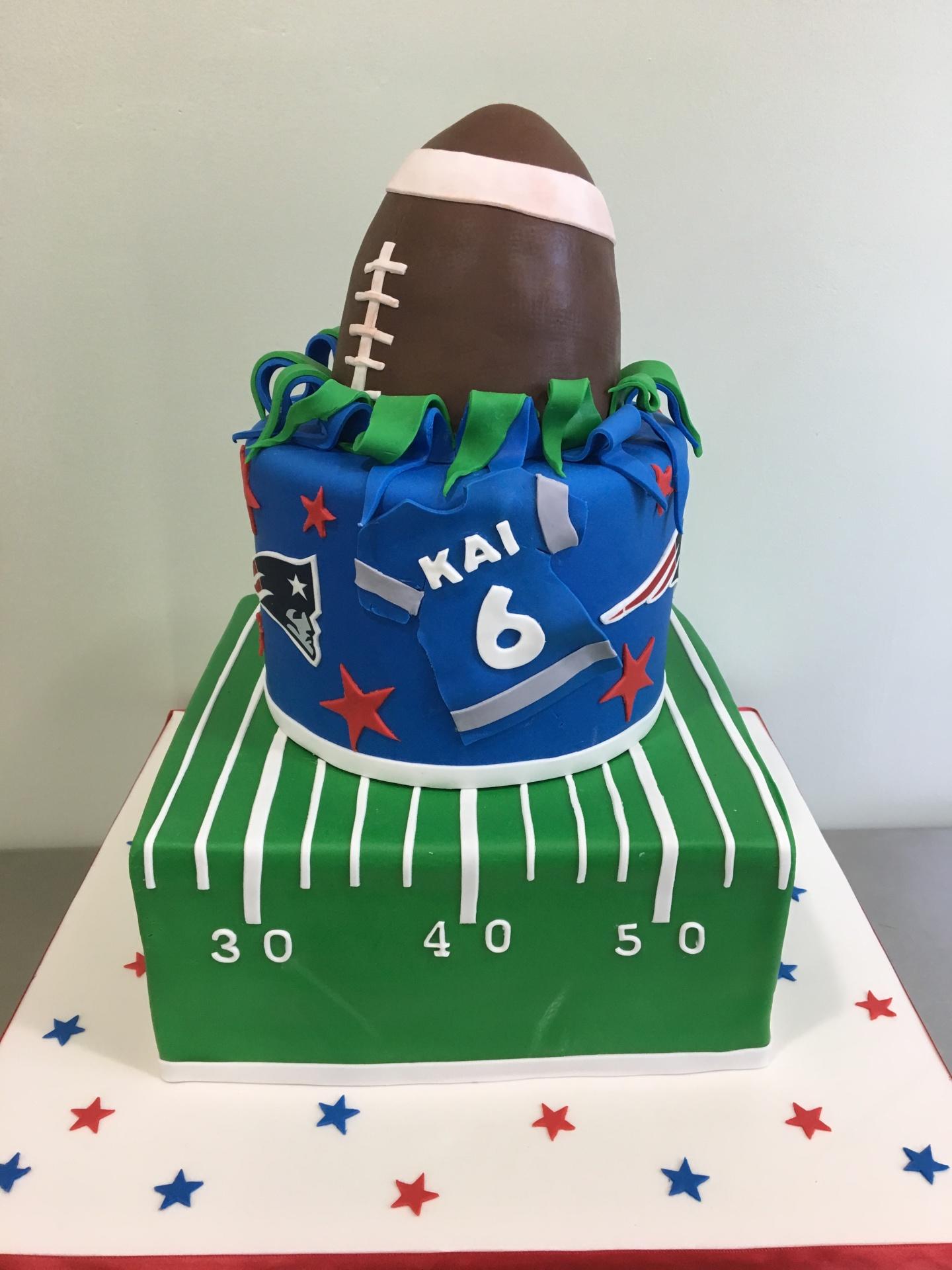 Football birthday cake custom cakes NJ