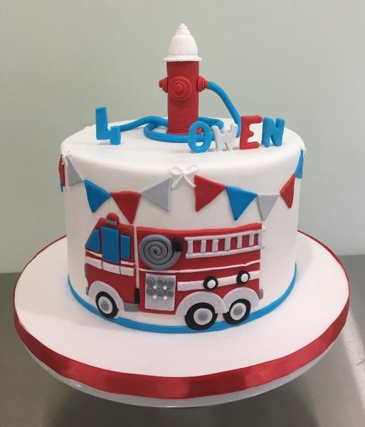 Fire Truck themed cake Cake Fairy NJ