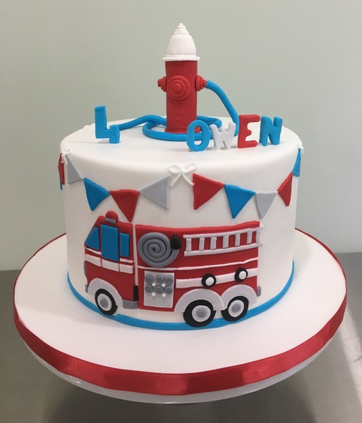 Fire Truck themed cake Cake Fairy NJ