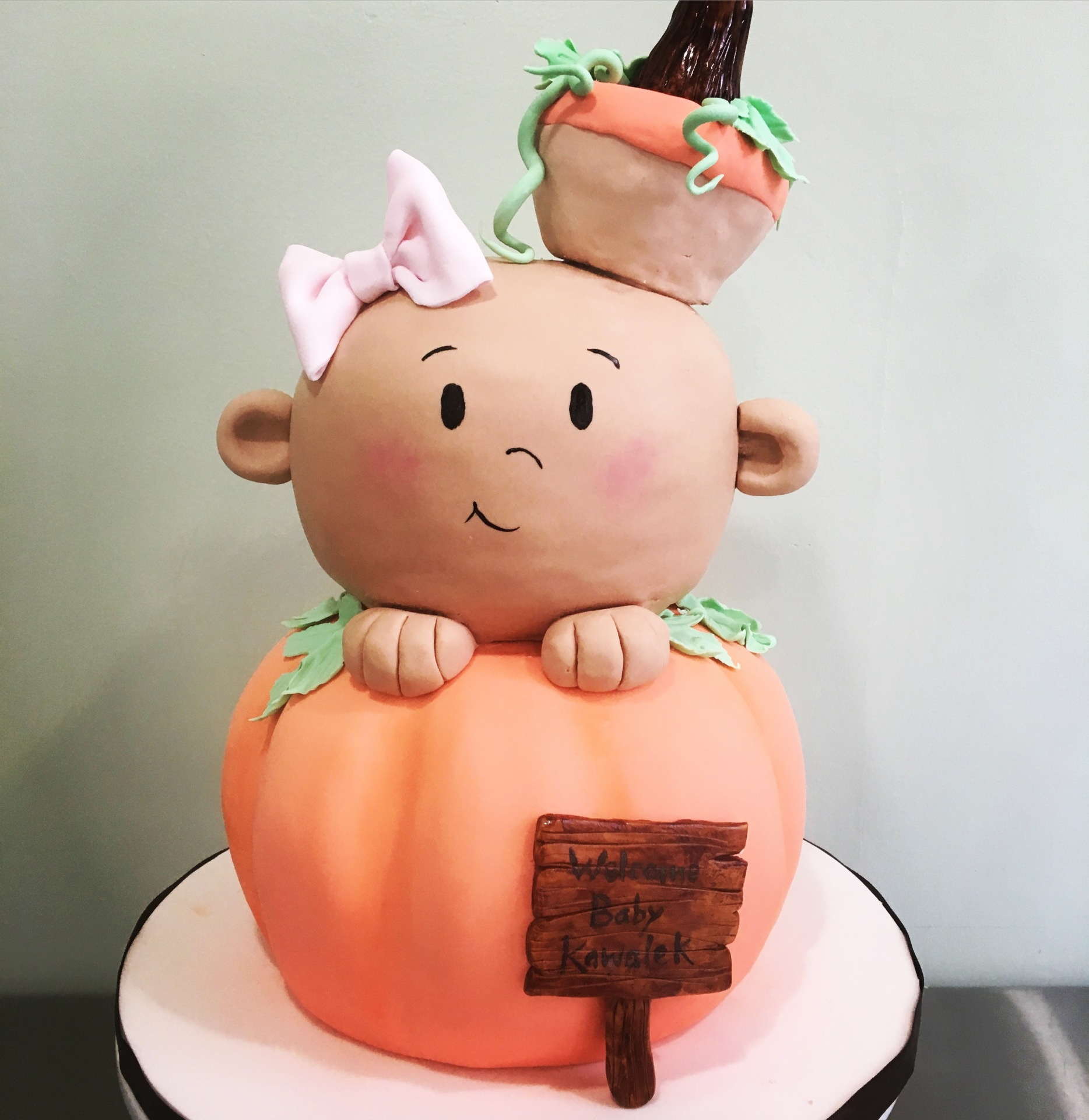 pumpkin baby shower cake fall shower cake