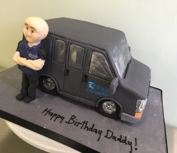 van cake fondant figurine