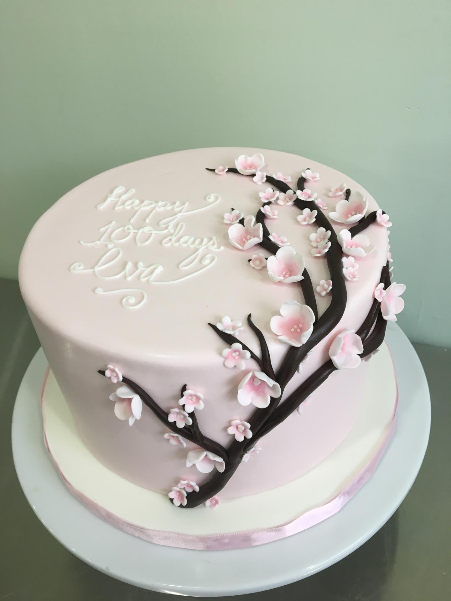 Custom cakes New Jersey cherry blossom cake