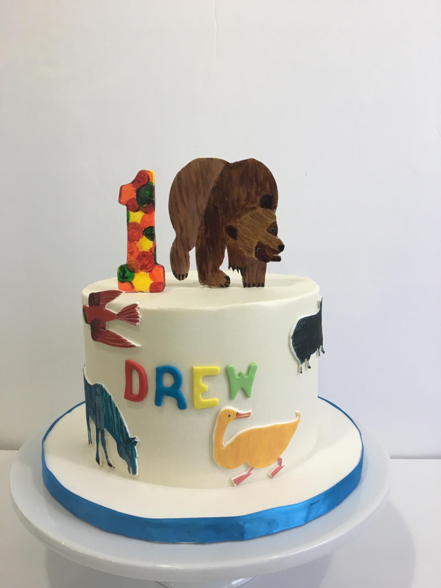 Custom Cakes NJ Brown bear cake