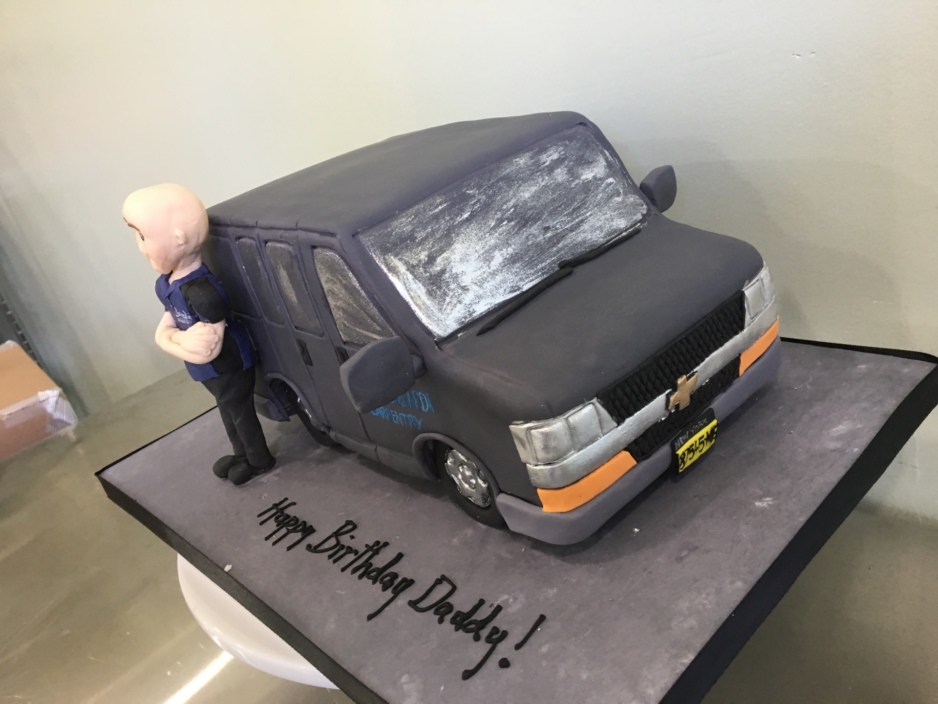 Custom cakes NJ truck cake figurine fondant