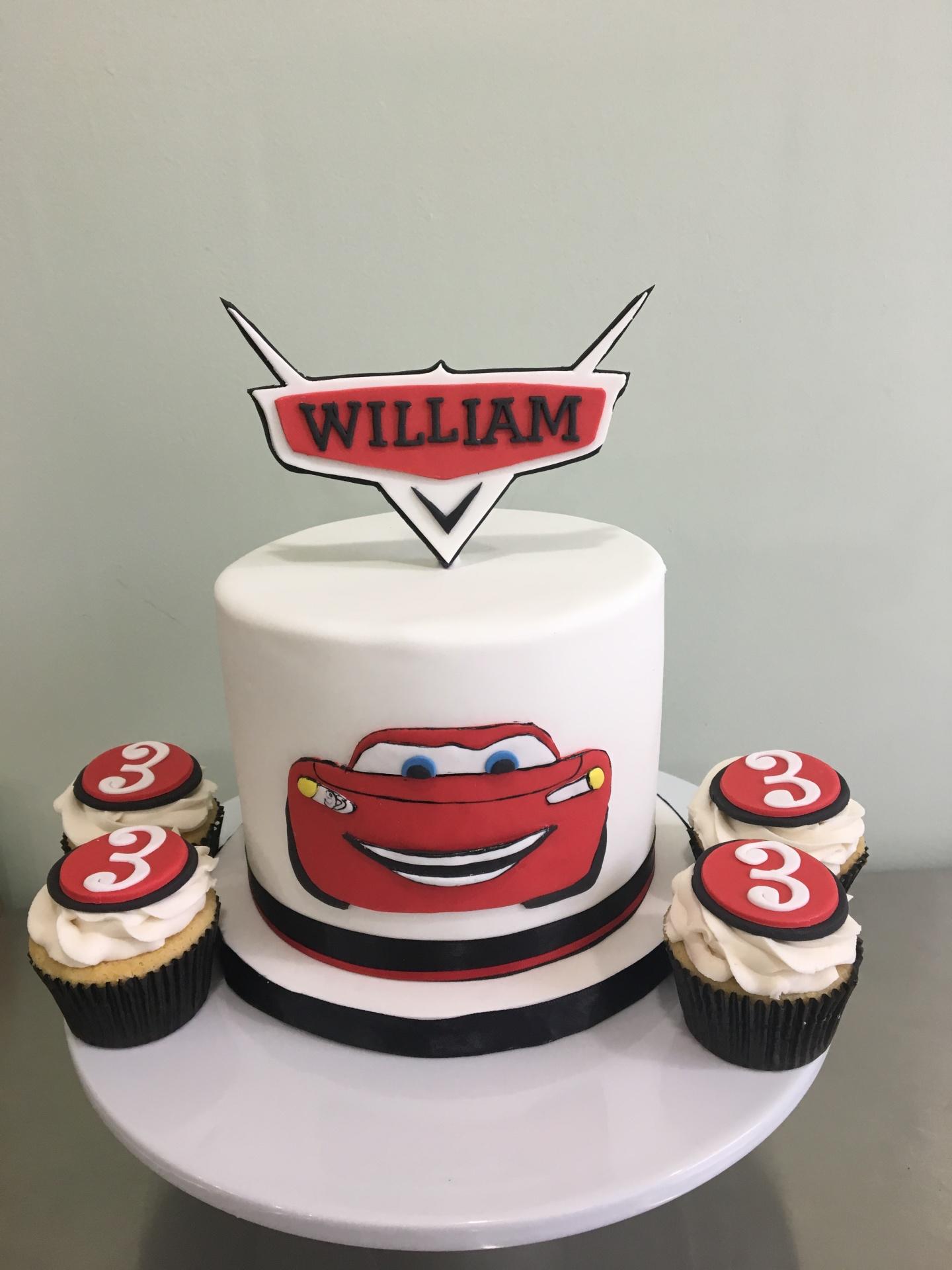 Custom cake NJ kids cake cars movie cake