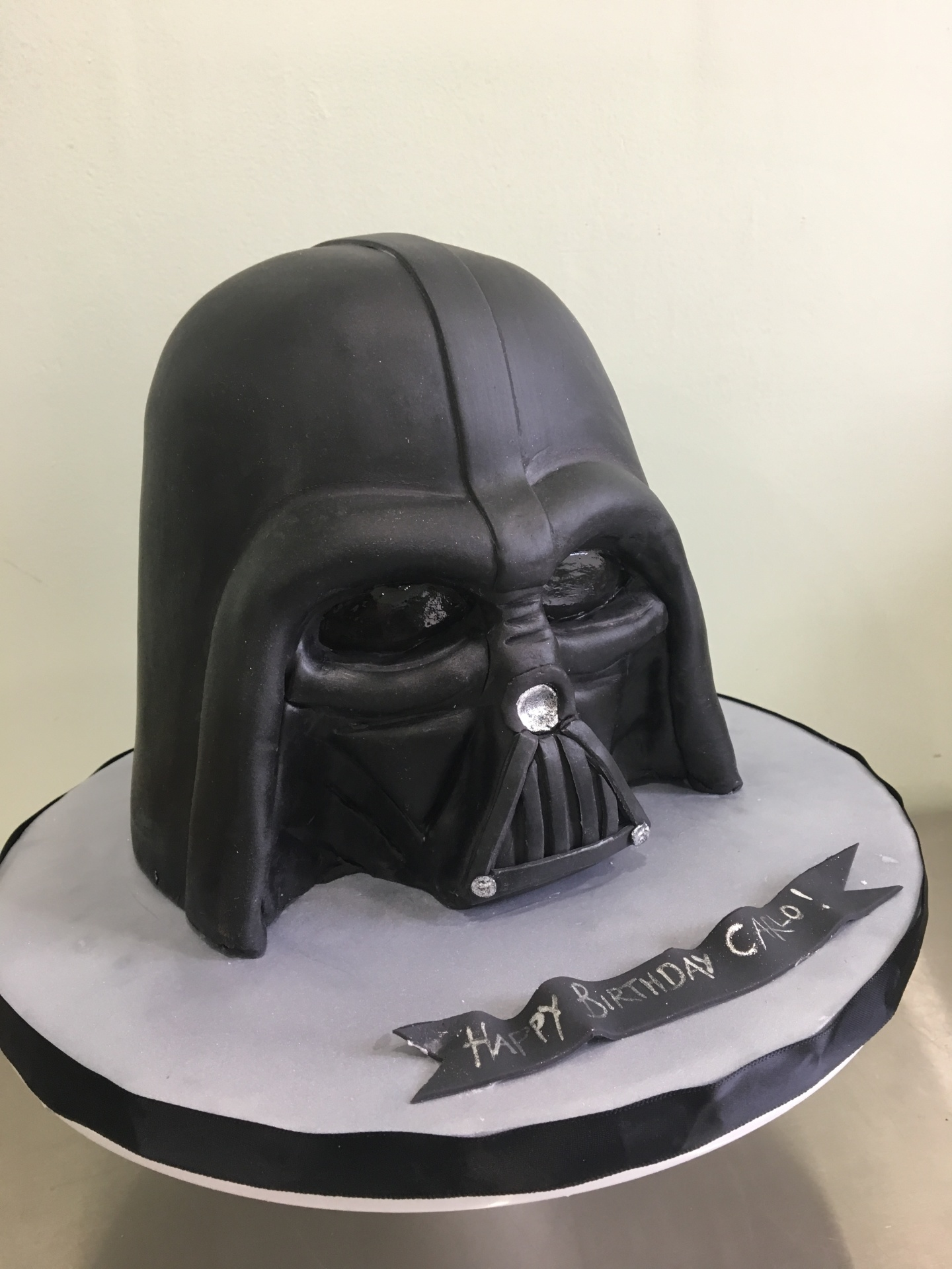 Custom Cakes NJ Darth Vader Helmet