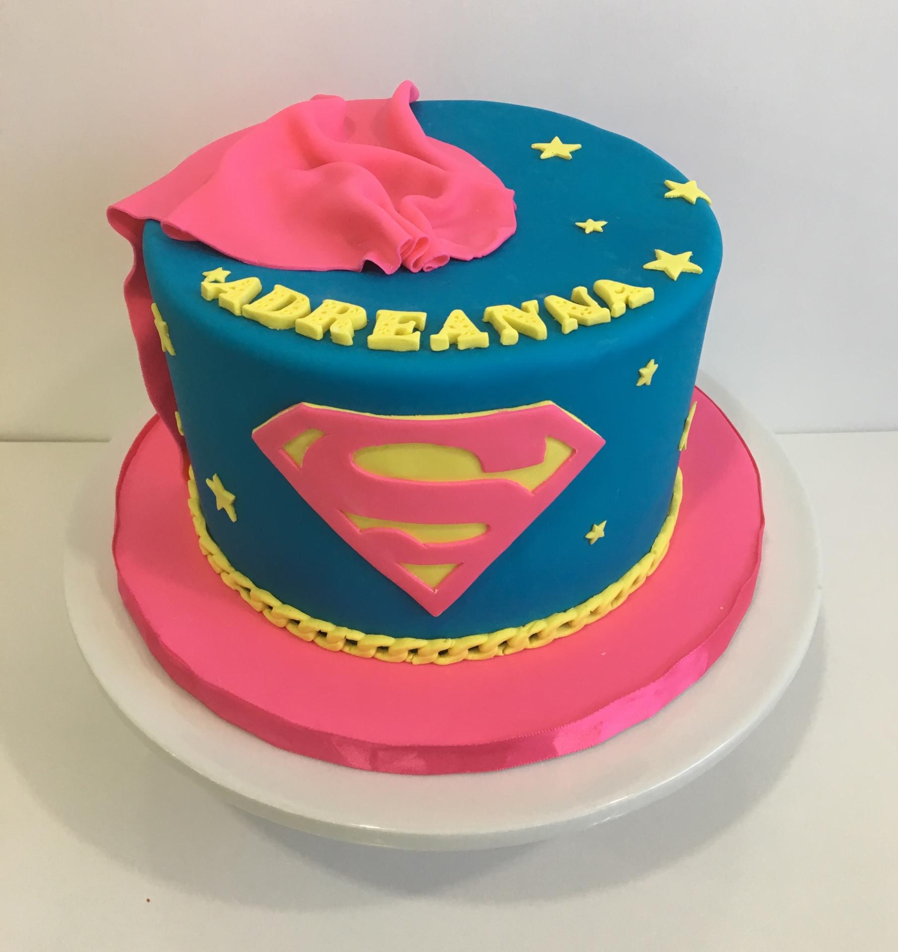 Custom Cakes NJ Super girl cake