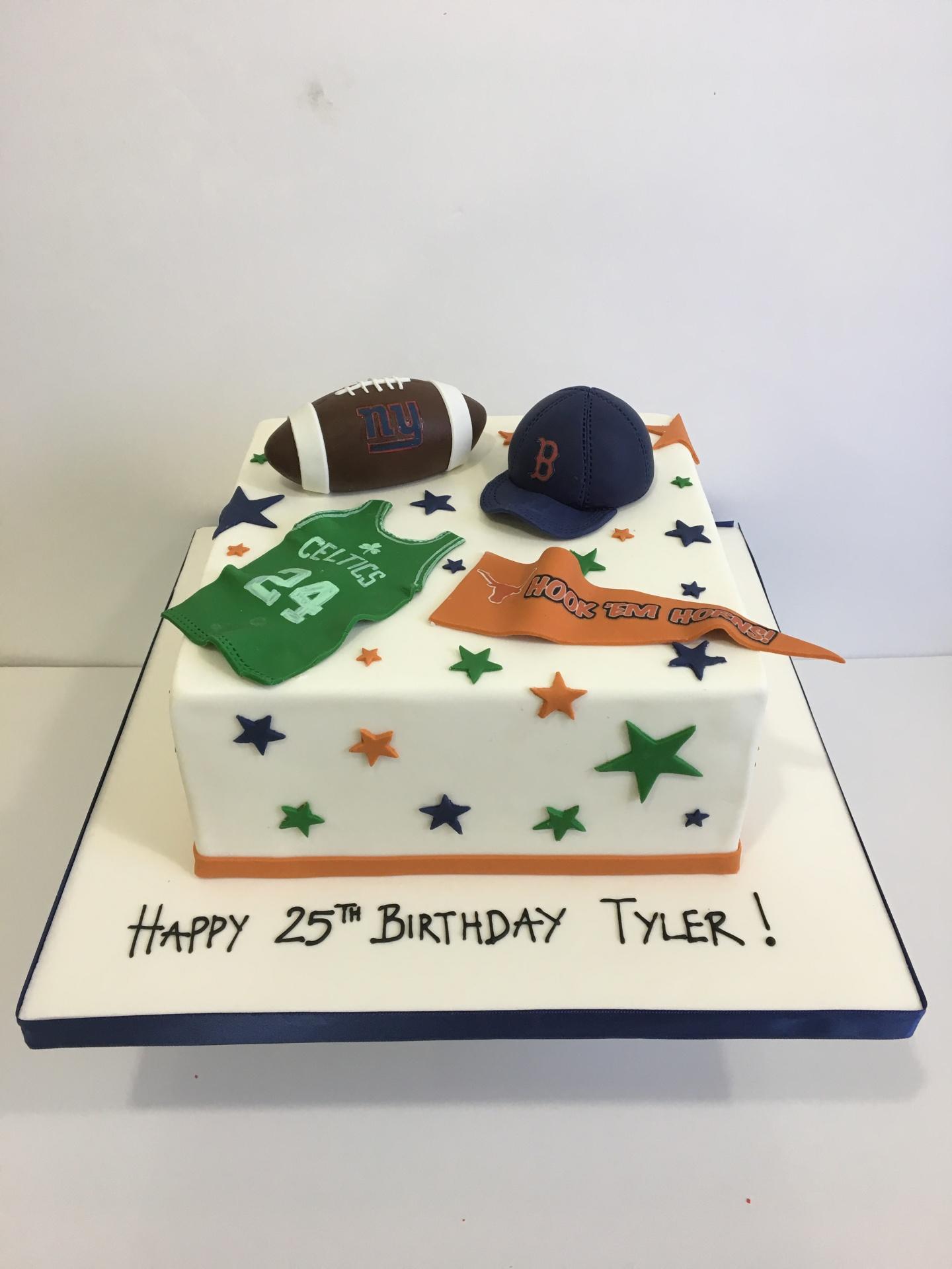 Custom cakes New Jersey sports cake