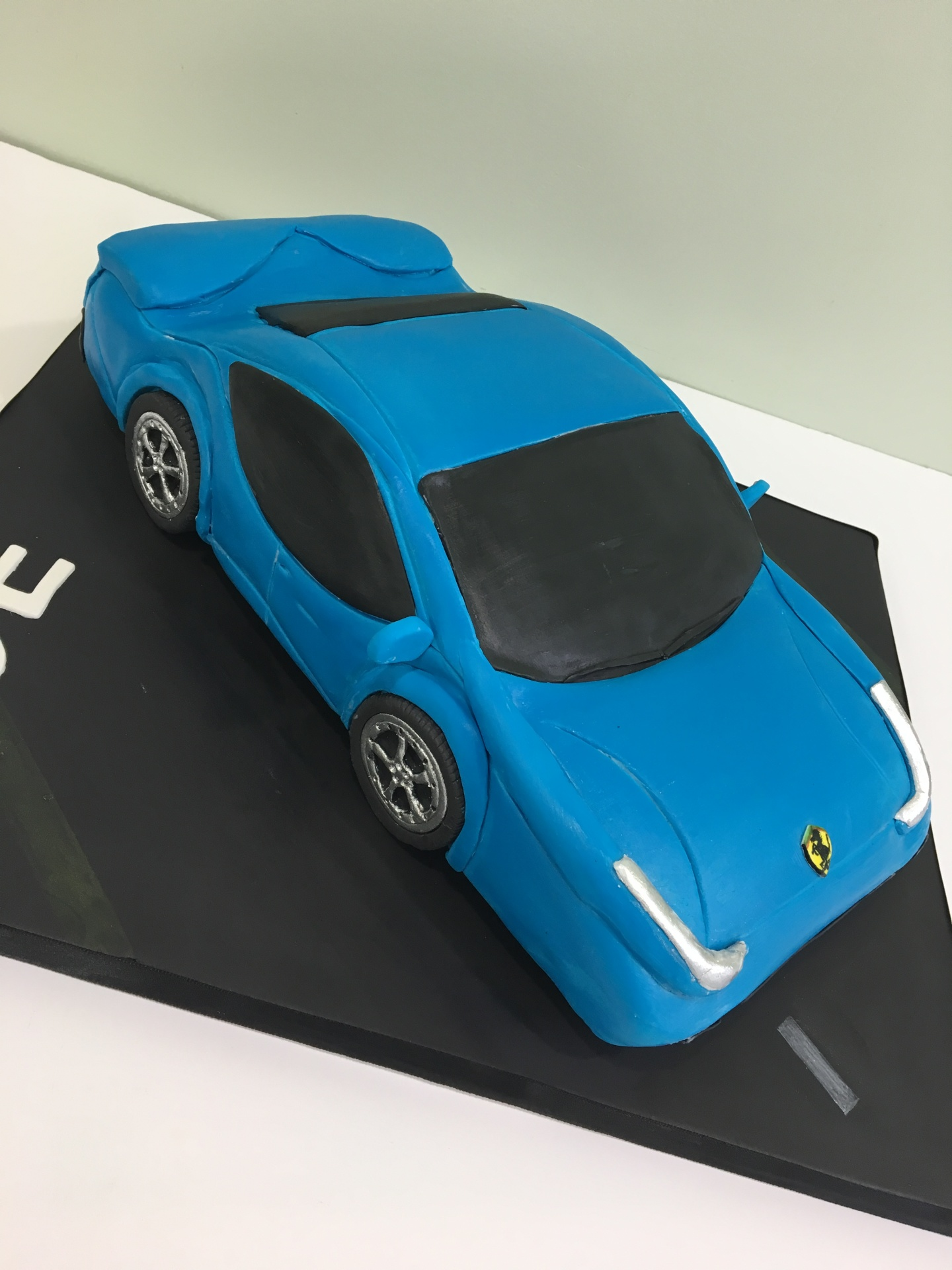 Custom Cake New Jersey Blue Ferrari Cake