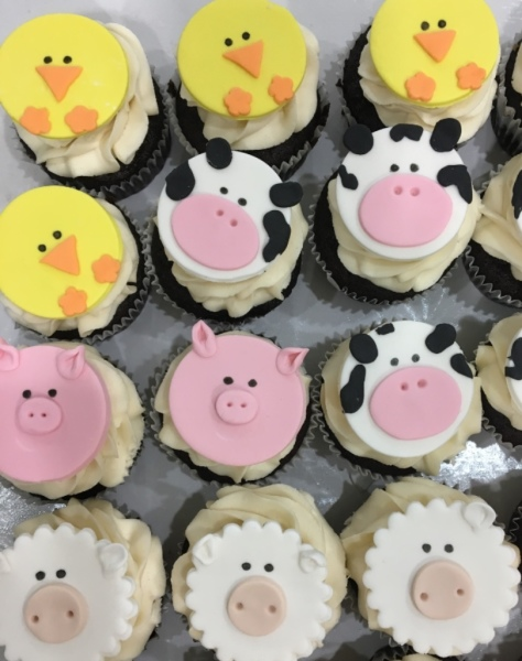 Custom Cakes New Jersey Farm Animal Cupcakes