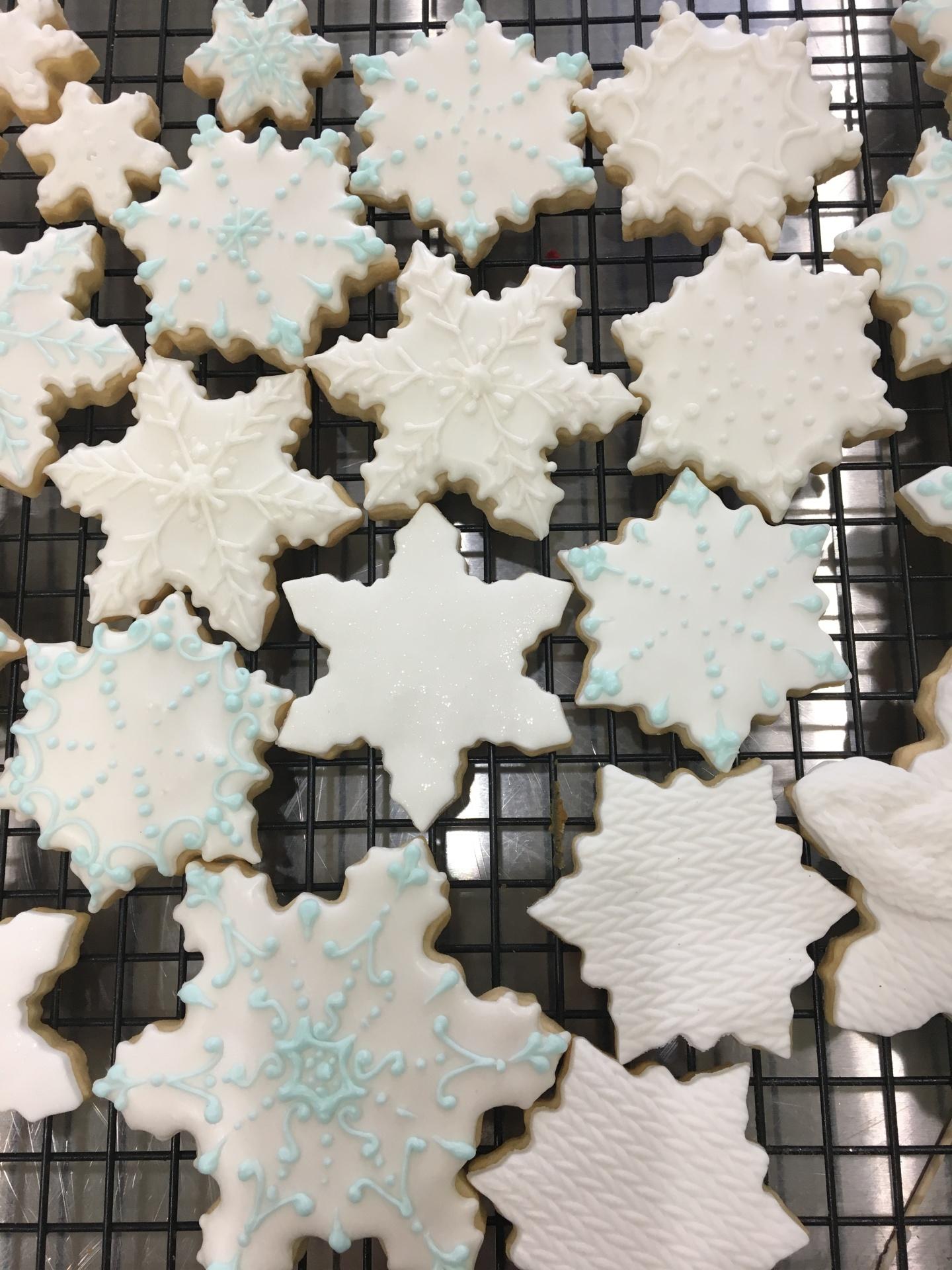 Custom Cookies NJ Snowflake Cookies
