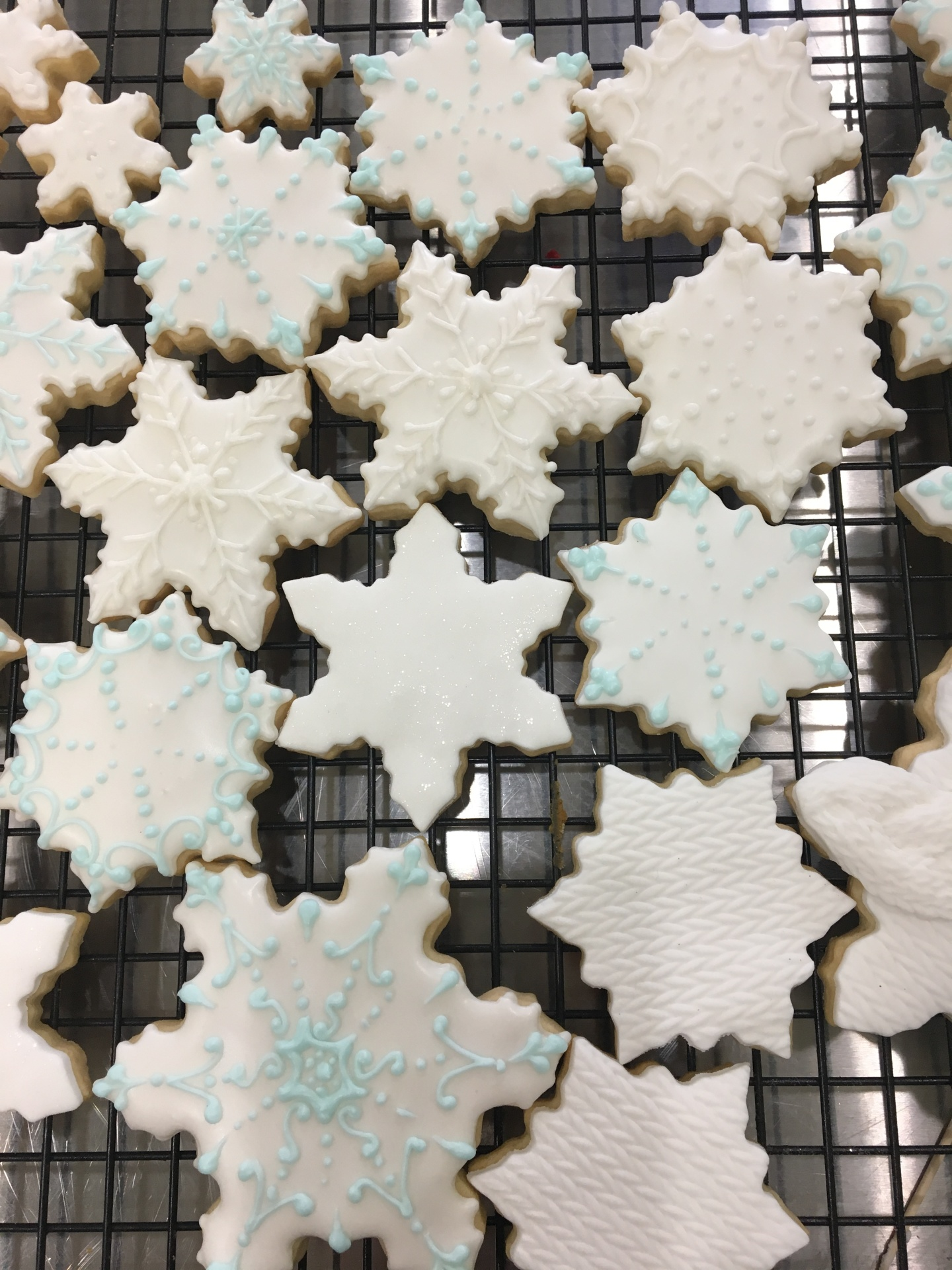 Custom Cookies NJ Snowflake Cookies