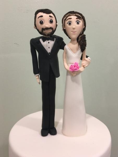 Wedding Cakes NJ Fondant Bride and Groom