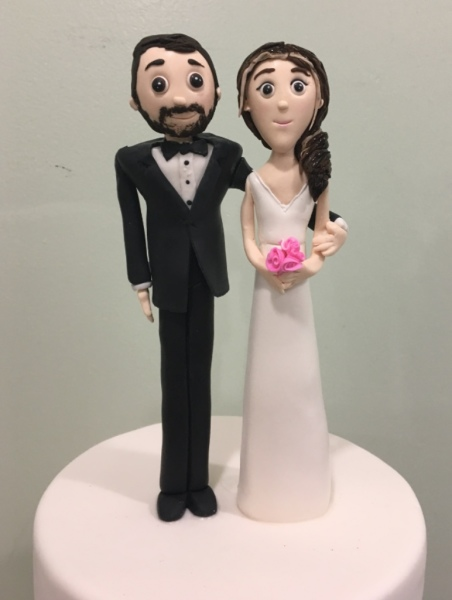 Wedding Cakes NJ Fondant Bride and Groom