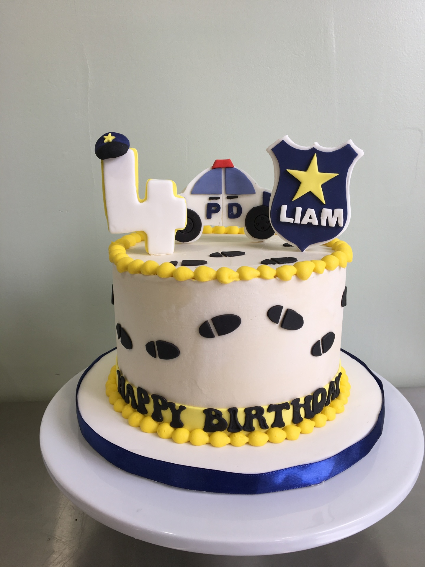 Custom Cakes NJ Police Themed Buttercream cake
