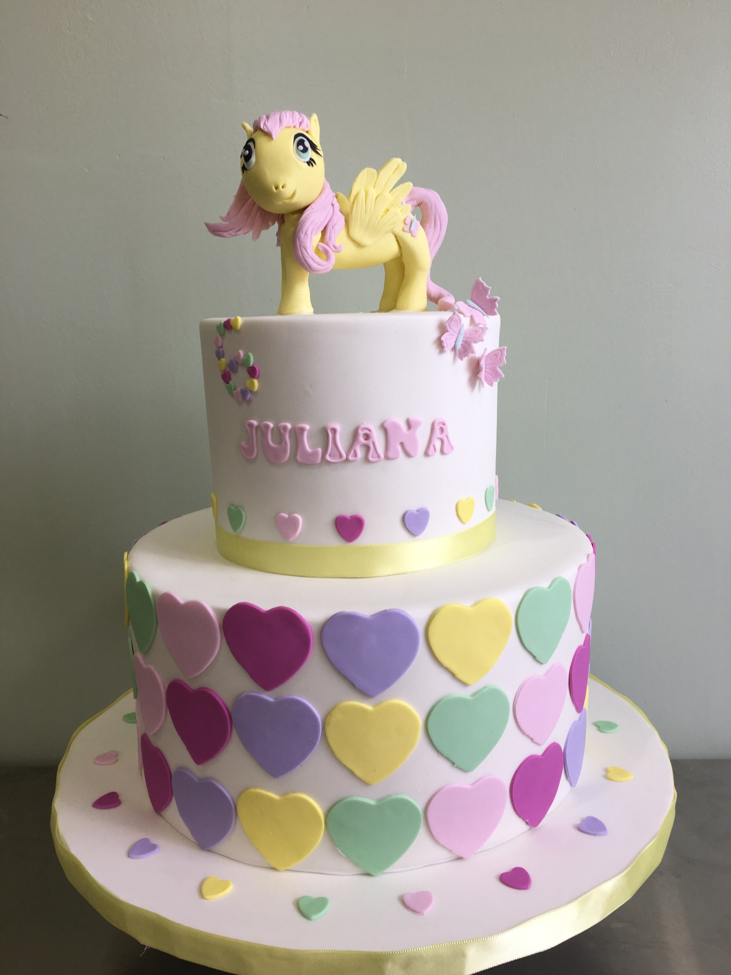 Custom Cakes NJ My Little Pony Shutterfly Cake with Pastel colors