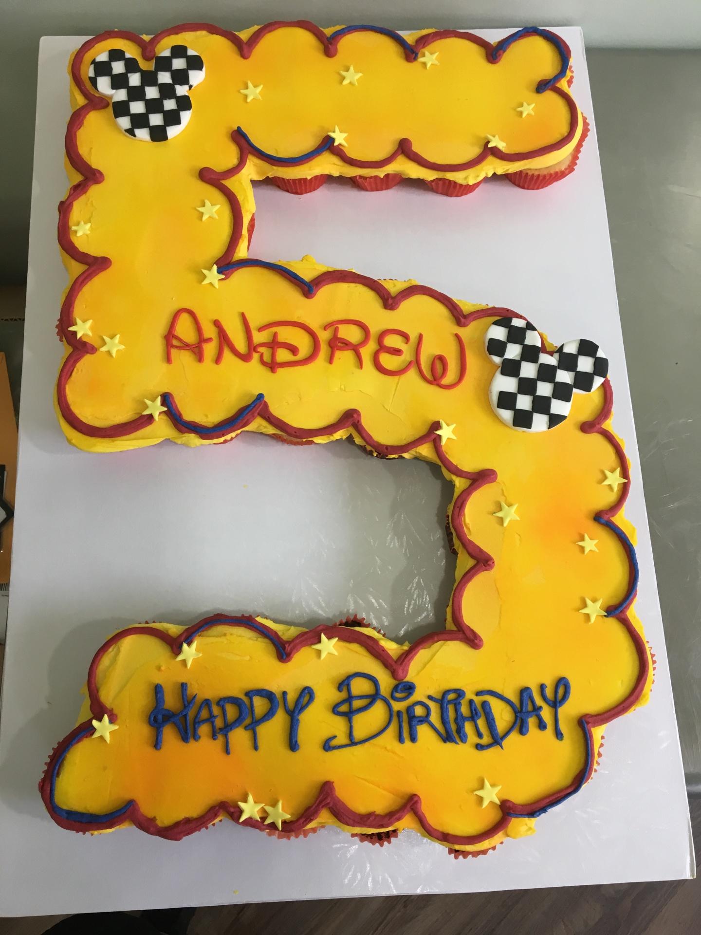 Custom Cakes NJ Cupcake Cake in the number 5