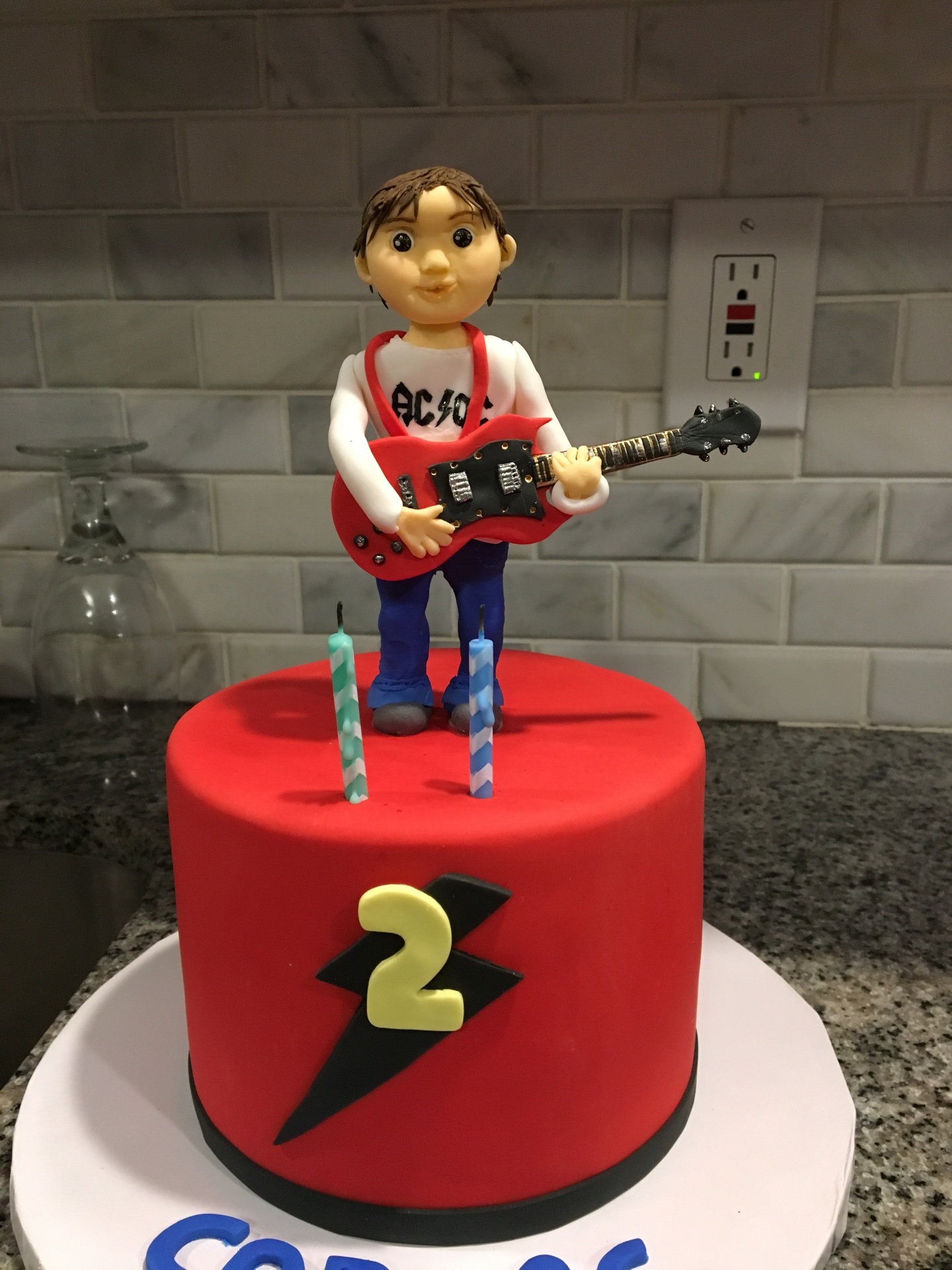 Custom Cakes NJ Music Themed cake for a second birthday
