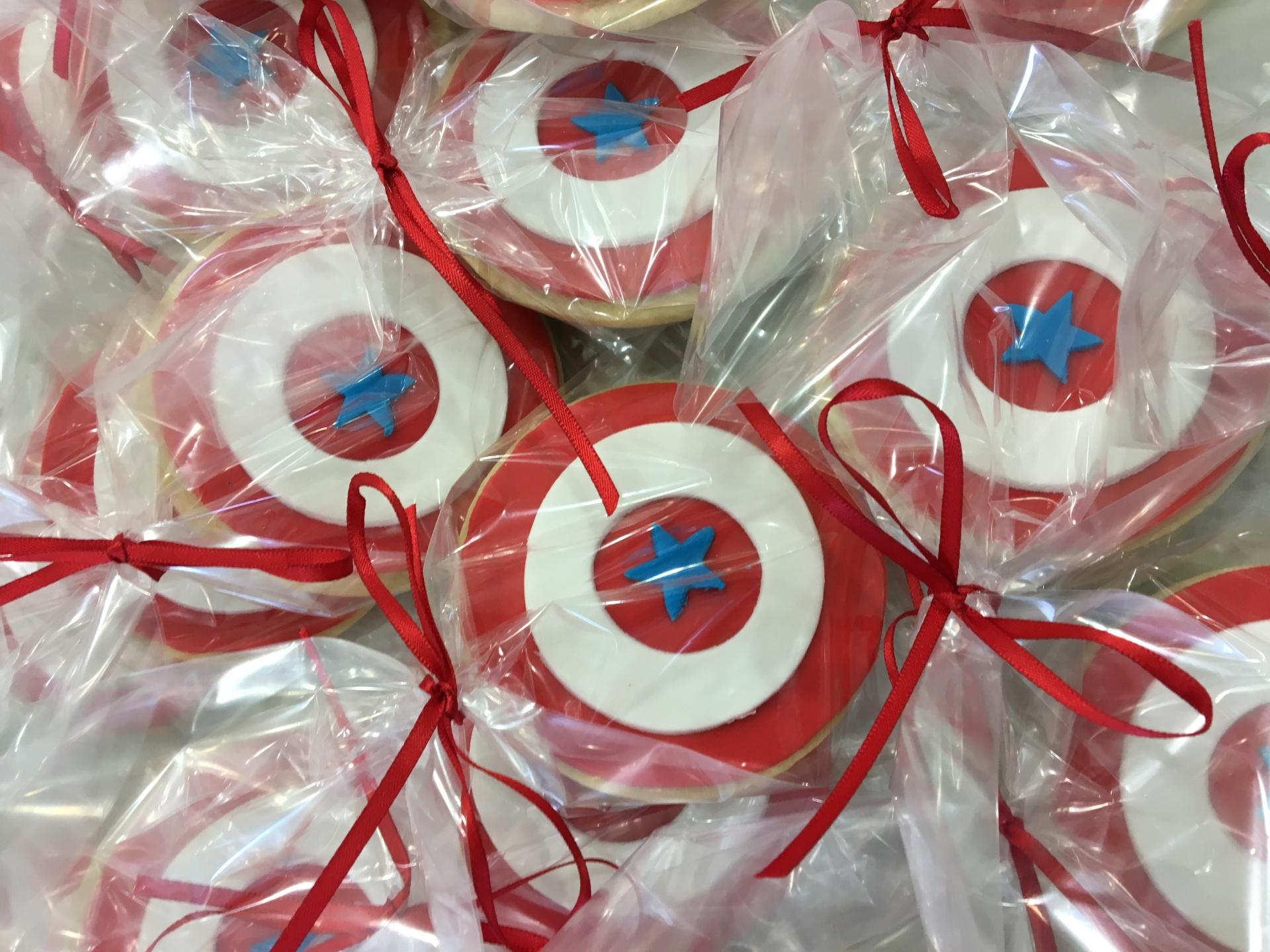 NJ Custom Cakes Cookies Superhero Cookies