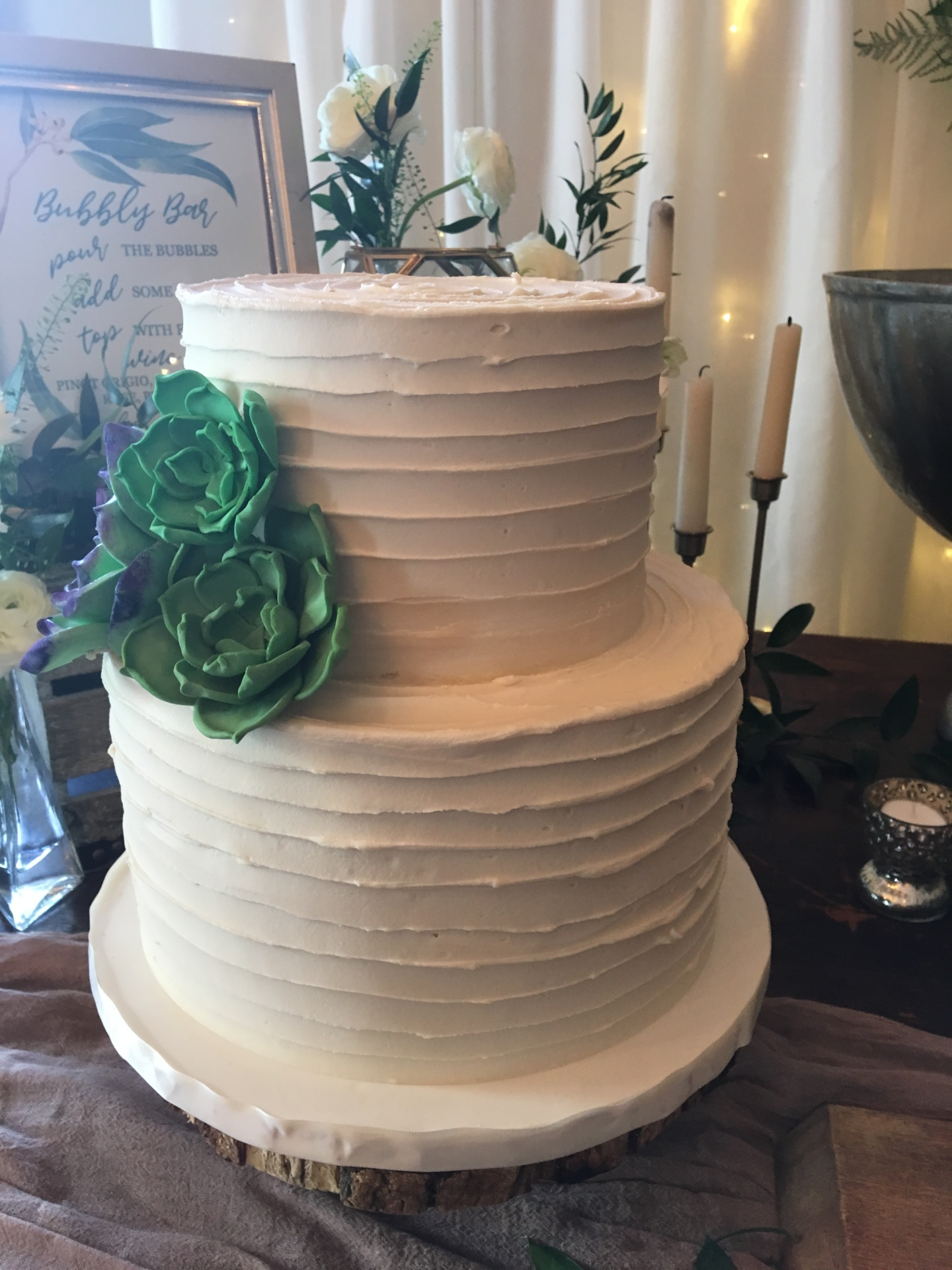 custom cakes nj sugar succulents buttercream cake