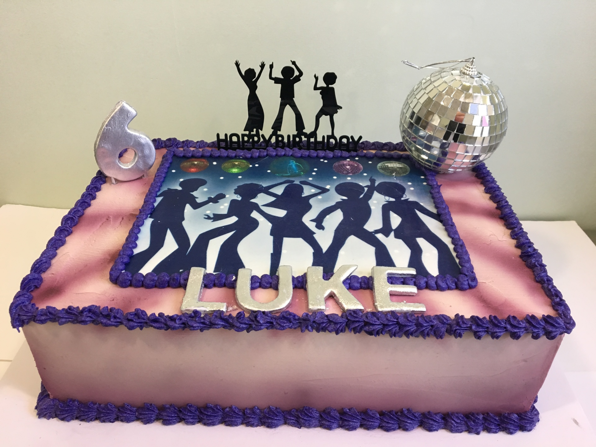 custom cakes NJ Disco buttercream airbrushed cake