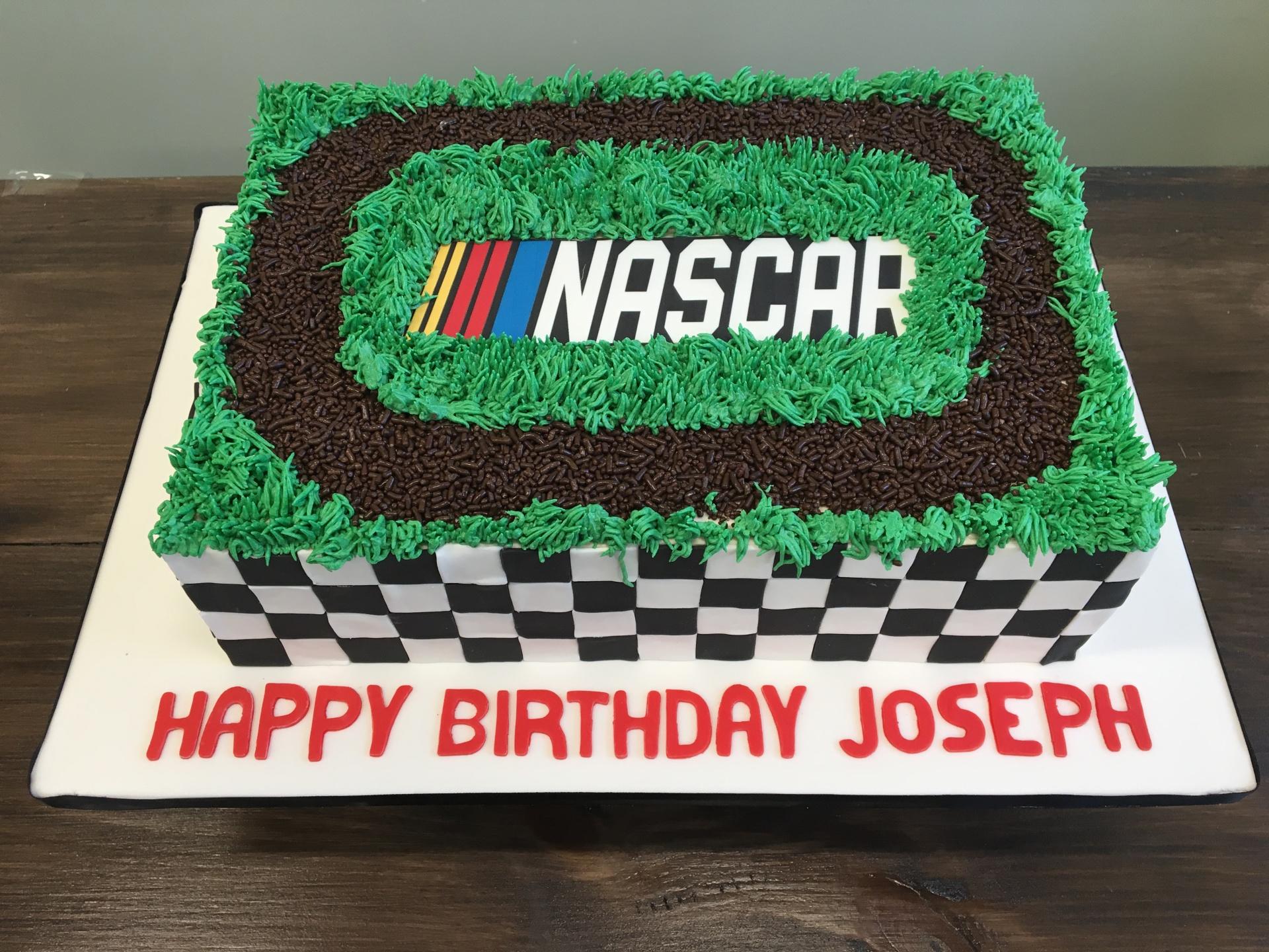 Custom cakes nascar cake buttercream cake