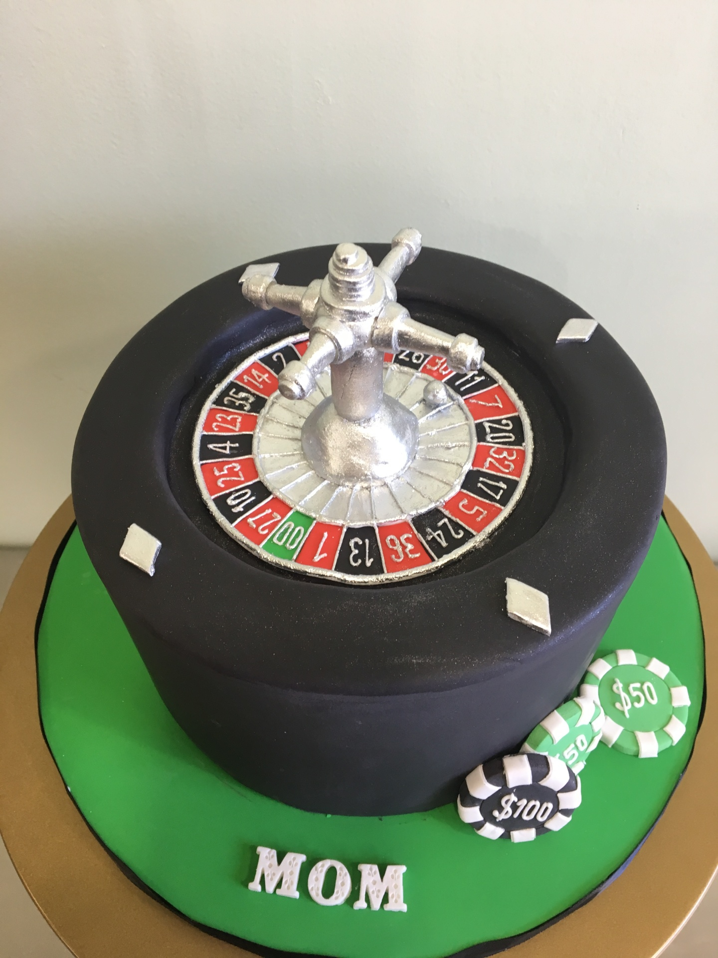 Custom Cakes NJ Roulette Wheel Cake for Adult