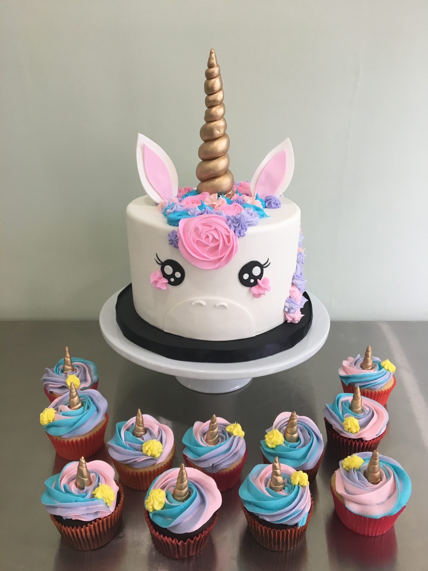 Custom Cakes NJ Unicorn Cake and Cupcakes