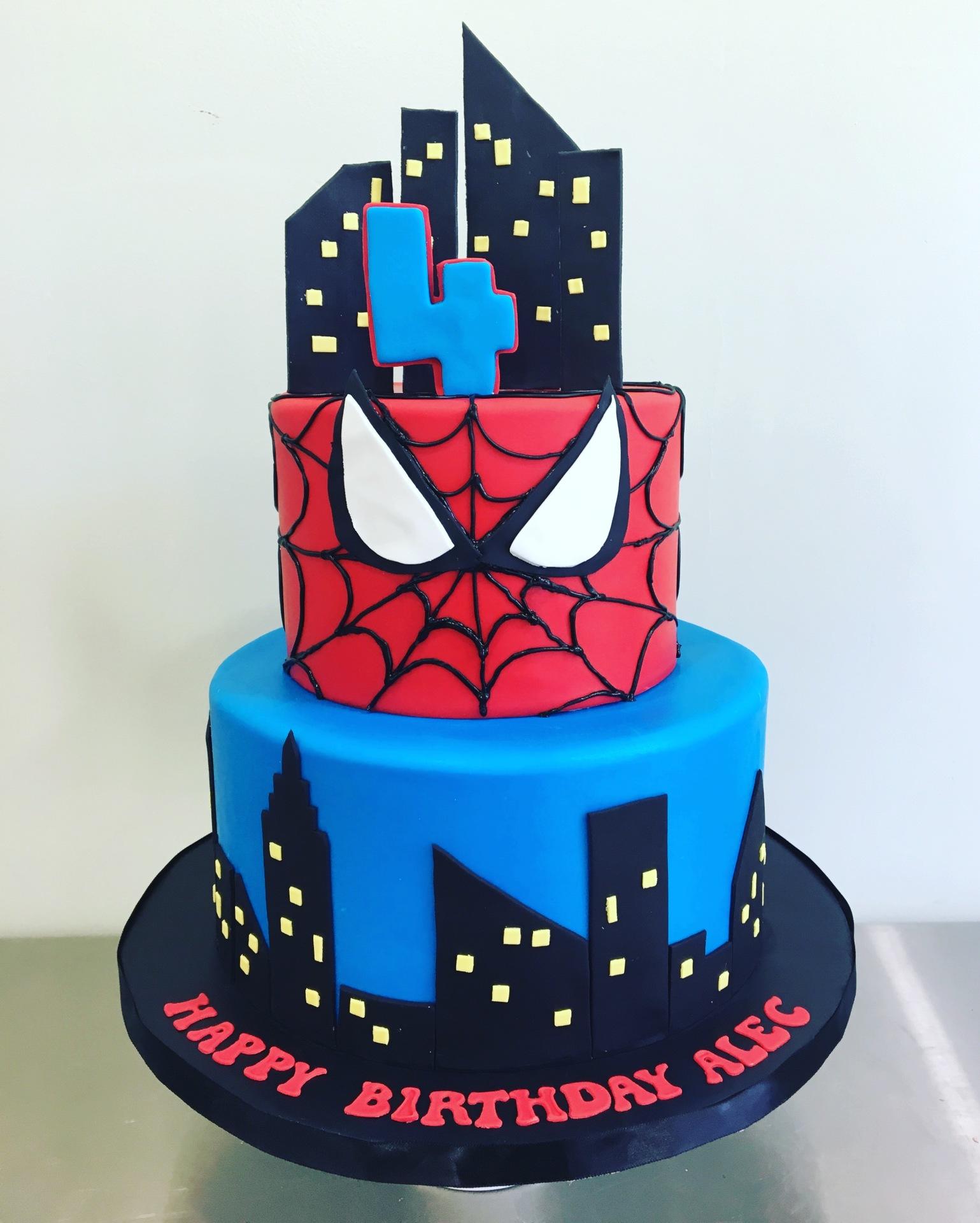 Custom cakes NJ Superhero cake spiderman cake