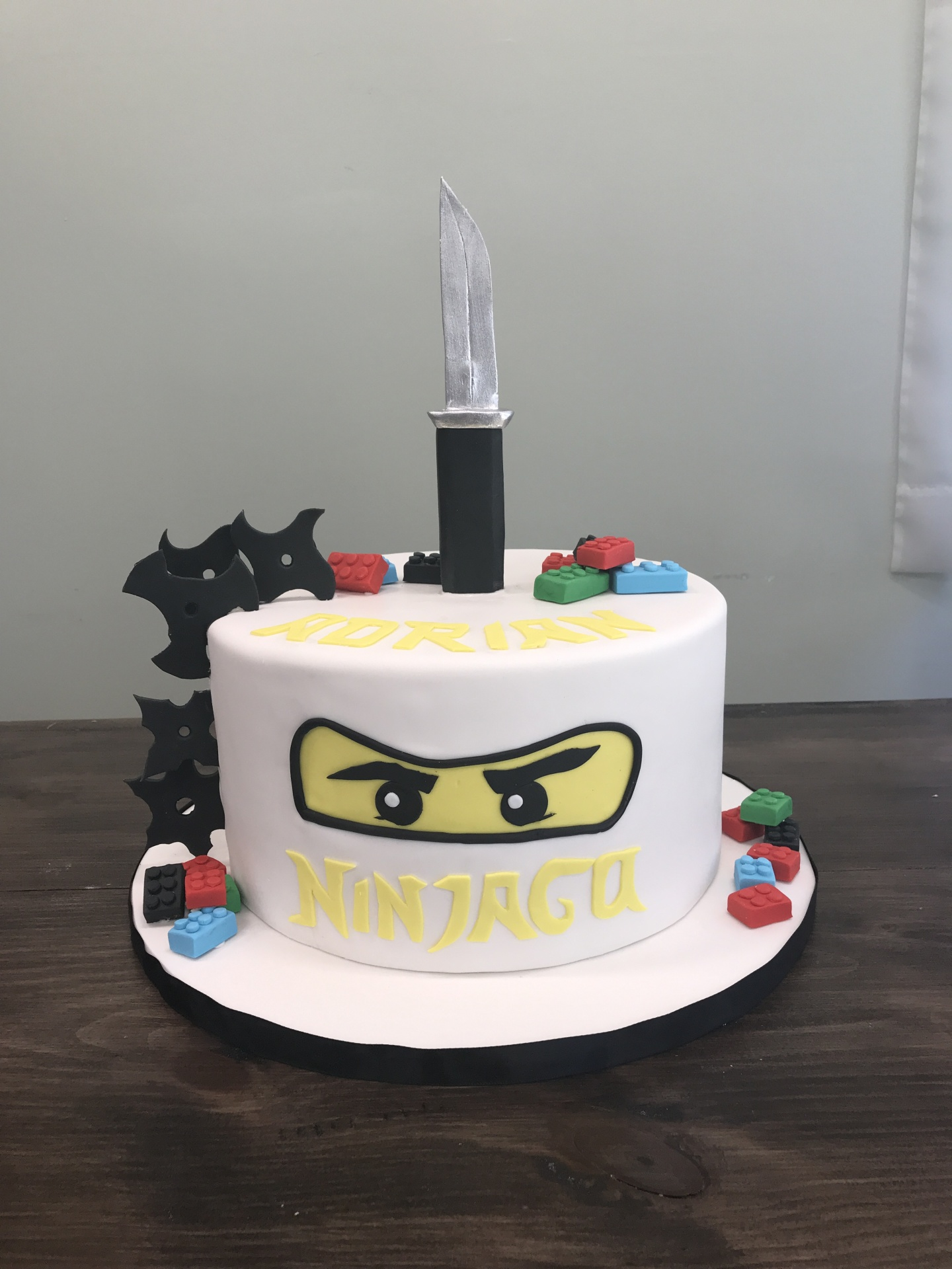 Ninjago Cake with lego and Blade Custom Cake NJ