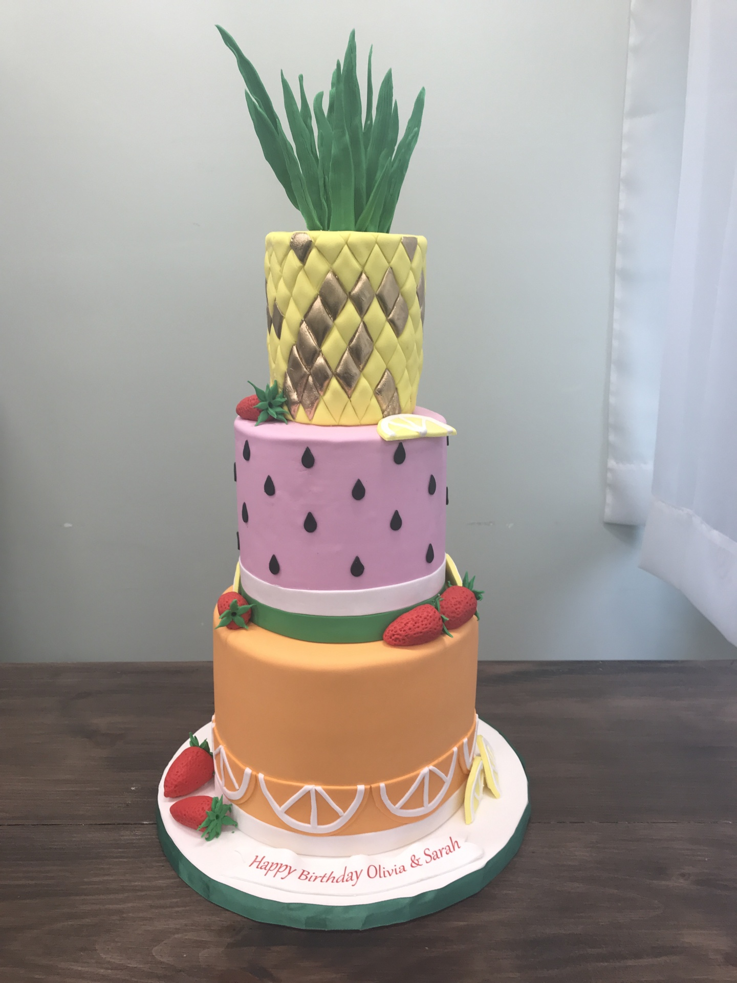Summer Fruit Cake with Pineapple Custom Cakes NJ